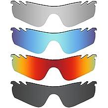 c0c175b2814e5 MRY 4 Pares polarizadas Lentes de Repuesto para Oakley RadarLock Path Vented  Sunglasses-Stealth Negro