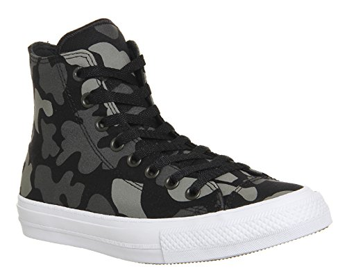 Converse Chuck Taylor All Star Ii Reflective Camo, Sneakers Hautes Mixte Adulte Charcoal/Black/White
