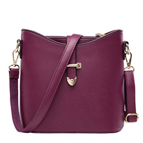fanhappygo Fashion Retro Leder Damen praktisch Schulterbeutel Umhängetaschen Abendtaschen lila