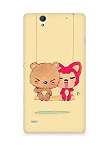 Amez designer printed 3d premium high quality back case cover for Sony Xperia C4 (Cute Dolls)