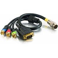 Cables To Go RapidRun Cavo adattatore (presa 9-pol. D-Sub-+ Video Component , 0,5 m) [Importato da Regno Unito]