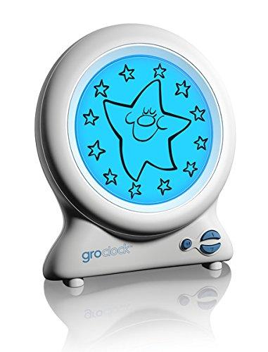 Gro HJ010 Gro-Clock Schlaftrainer, Zeigt den unterschied zwischen Tag und Nacht, weiß