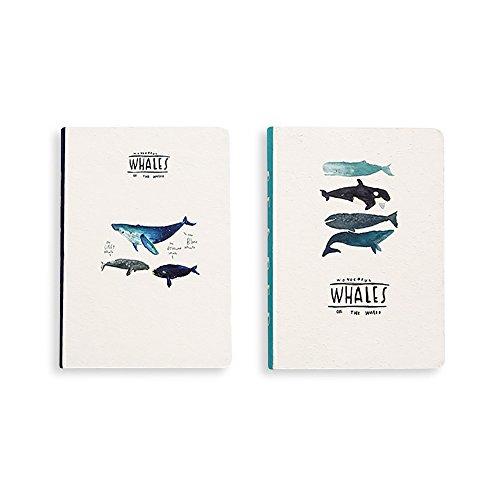 Zhi Jin Fashion Océano BALLENA A5cuaderno diario cuaderno Diario de garabatos), niñas viaje, color B