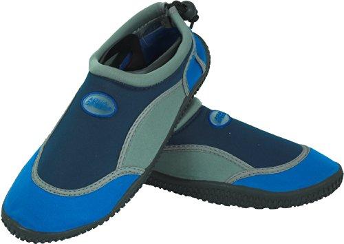 Aqua-Speed Wasserschuhe / Surfschuhe / Badeschuhe Blau/Grau/Dunkelblau