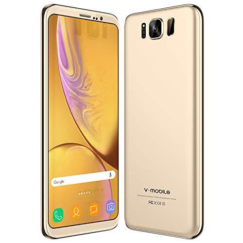 Cellulari Offerte 4G, 16GB ROM Smartphone da 5.5' Quad Core Android 8.0 MP Fotocamera 2800mAh, GPS/Hotspot smartphone offerta del giorno (Oro)