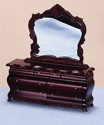Melody Jane Puppen Haus Kostüm Viktorianischer Schminktisch Miniatur Mahagoni Schlafzimmer Möbel (Viktorianische Puppe Kostüm)