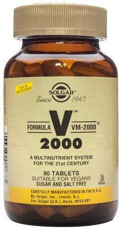 Solgar FORMULA VM-2000 - 90 Tabletten - Multivitamin- und Mineral - EU-Konform
