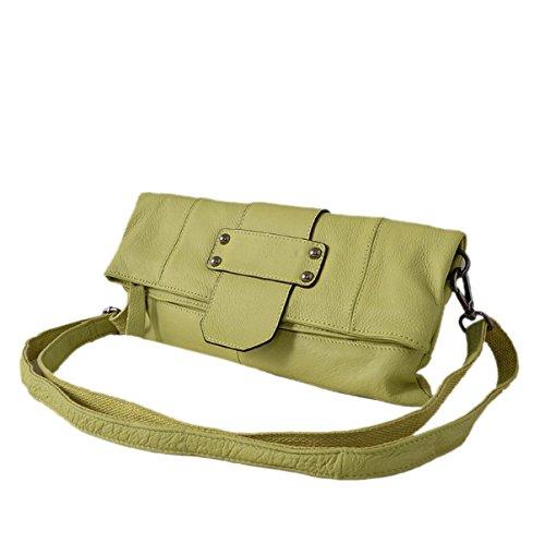 Donna Moda Personalità PU stile Nuovo Semplice Colore Solido Portatile Spalla Singola Green