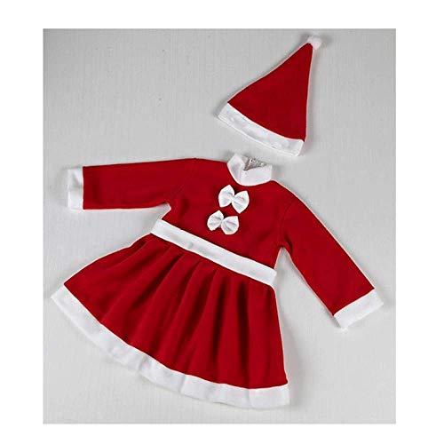 MGZDH Kinder Weihnachtskostüme Spielen Santa Claus Kostüm Anzug Junge Mädchen (Anzug Santa Jungen)