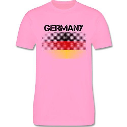 EM 2016 - Frankreich - Germany Flagge - Herren Premium T-Shirt Rosa