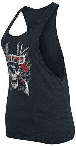 Guns N' Roses Top Hat Skull Top Femme noir Noir