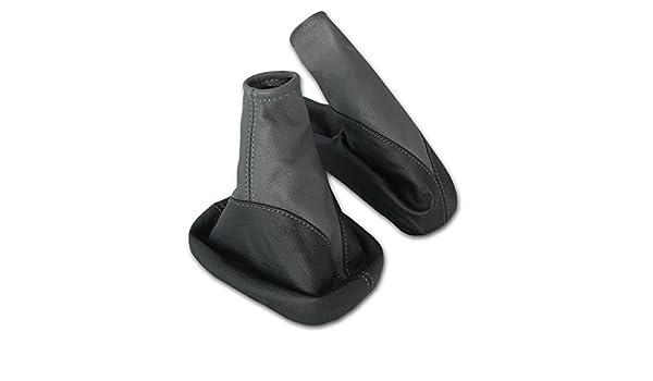 Handbremsmanschette aus 100/% ECHTLEDER Leder in Schwarz-Rot L/&P A104-2 Schaltsack Schaltmanschette