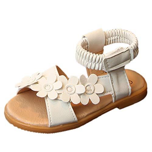 Tohole_Baby Schuhe MäDchen Sonnenblume Sandalen Soft-Soled Prinzessin Kleinkind Schuhe Blumen Schuh Anti-Rutsch-Weiche Besondere AnläSse Taufe Hochzeit Party Blumen SüßE Prinzessin (Beige 1,21 EU)
