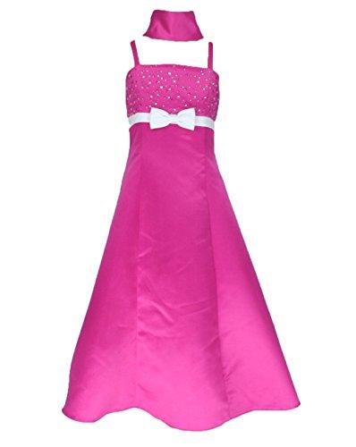 go2victoria Satin Brautjungfern Anlässe Festkleid Mädchen Kleid Lila Gr.116/122 (L6002-6#)