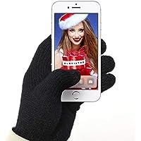 Gloviator® Guantes Táctiles para Smartphones y Tablets | Unisex | Color Negro | Suaves y Elásticos | Lavables