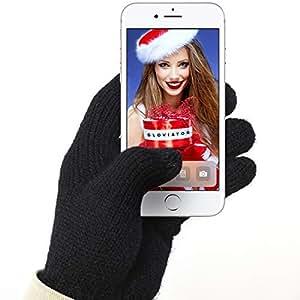 Gloviator® Touch Gloves GUANTI TOUCH universali per touchscreen | Adatto a tutti gli Smartphone e Tablet | Unisex - Taglia unica | Caldi e resistenti