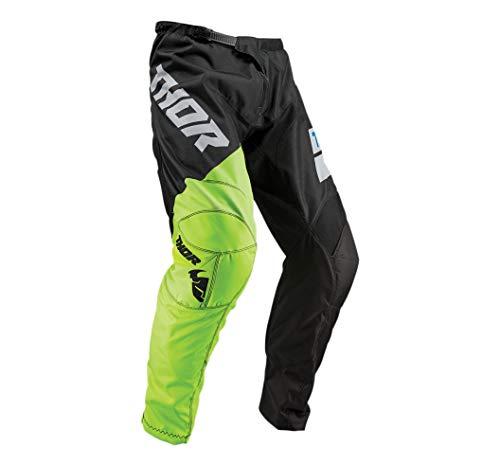 Thor-pantaloni Cross E Enduro settore S9Nero fluor Taglia 44