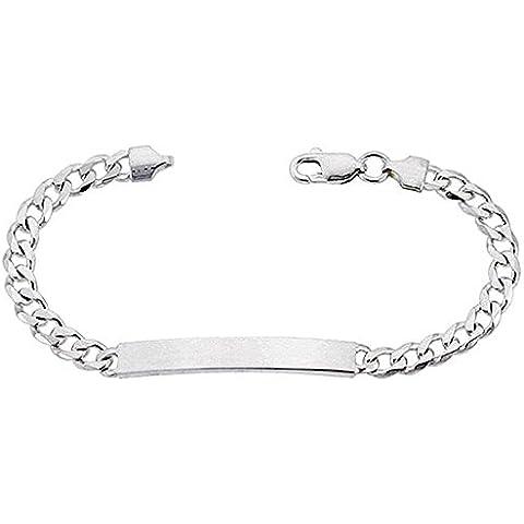 Revoni-Collana in argento Sterling con maglie cubano Braccialetto leggermente meno di 1/10,16 (4 cm, 6 mm di larghezza, senza nichel