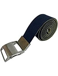 Mens Black / Navy 100% Polyester Canvas Fabric Jeans Casual Belt with Automatic Slide Buckle