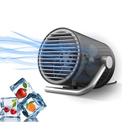 ZNQY USB-Lüfter , Kleiner persönlicher Accering-tragbarer Mini-Tisch-Tischventilator mit Berührungssteuerung, flüsterleise Kühlung Desktop-Lüfter für Zuhause, Büro, Wohnheim, Schwarz