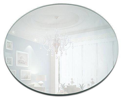 Lumière dans l'obscurité 25,4 cm Miroir rond Bougie plaque 1,5 mm d'épaisseur avec Round Edge Lot de 2