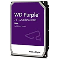 Western Digital WD Purple 2TB para videovigilancia - 3.5 pulgadas SATA 6 Gb/s disco duro con tecnología AllFrame 4K - 180TB/yr, 64MB Cache, 5400rpm - WD20PURZ, Púrpura