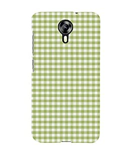 Green Checks Pattern 3D Hard Polycarbonate Designer Back Case Cover for Micromax Canvas Xpress 2 E313 :: Micromax Canvas Xpress 2 (2nd Gen)