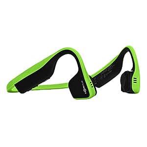 AfterShokz Trekz Titanium Bloothooth Bone Conduction Kopfhörer Kabellos Bluetooth Wireless Headphones für Laufen, Ivy Green