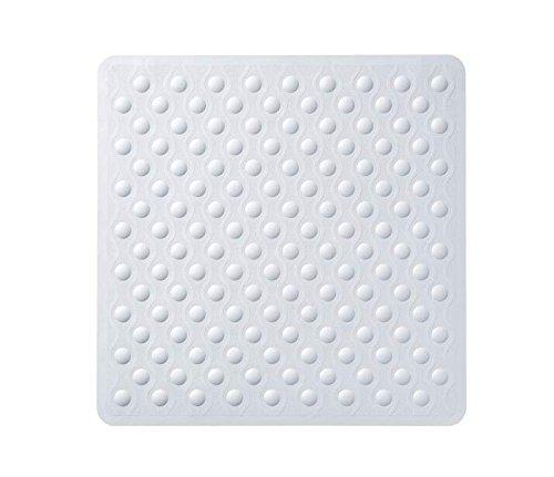 TowelsRus Anti-Pilz-Anti-Rutsch-Gummi-Duschmatte mit Bubbles 53 x 53cm