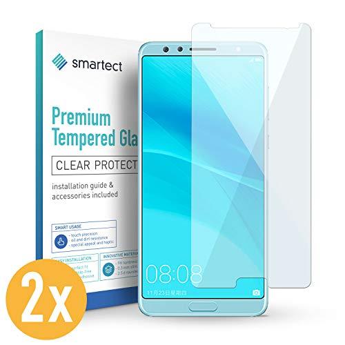 smartect 2X Protector de Pantalla de Cristal Templado para Huawei Nova 2S Lámina Protectora Ultrafina de 0,3mm   Vidrio Robusto con Dureza 9H y Antihuellas Dactilares