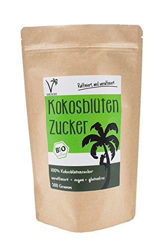 Bio Kokosblütenzucker - alternative Süße von Vollzucker   aus fairem Handel (500 GR)