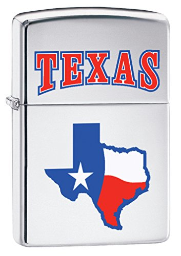 Zippo Feuerzeug: State Of Texas–Hochglanz Chrom 76866 (Chrom-fluid)