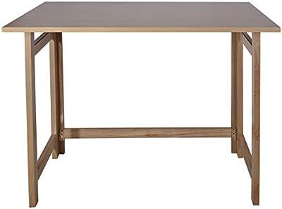 Mueblear 7015 TMesa plegable madera sin barniz 100x60x75 cms