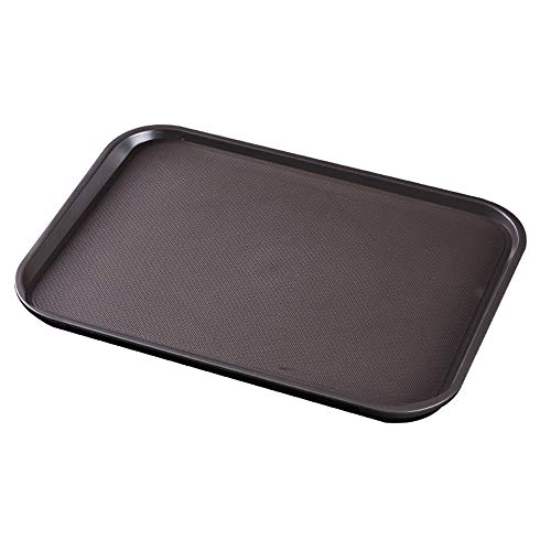 BSTLY rutschfeste Schale rechteckige Tasse Tablett Haushaltskunststoff Tee Tablett braun groß Fire Tee Teller