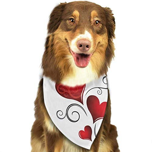 Osmykqe Hundebandana Valentinstag. Lätzchen Trangle Kopftuch für Katzen Pupply Big Dog Soft Sox Snap