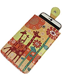 Stylish Multi Color Printed PU Leather Mobile Pouch Sling Bag For Girls / Women / Ladies To Carry Phone And Cards... - B073SXTSDT