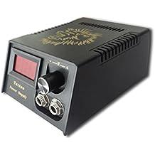 Beauty7 Máquina de Tatuaje Monitor de LCD Fuente de Alimentación Pro Digital Máquina del Tatuaje Material Plástico Cable de Energía Belleza Maquillaje Negro