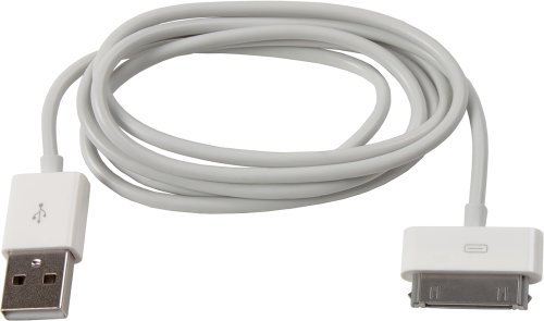 Smartfox 2in1 Apple Dock Connector Datenkabel für iPhone 2G / 3G / 3GS / 4 / 4S / iPad / iPad 2 / iPad 3 / iPod classic / touch / mini / nano / Video / Photo / 1G / 2G / 3G / 4G / 5G - Weiß Nano Ipod Classic