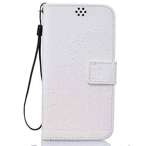 Guran® Custodia in Pelle per Apple iPhone 7 Plus (5.5 pollici) Smartphone avere Carta Slot Supporto Protettiva Flip Case Cover-rosa rossa bianca