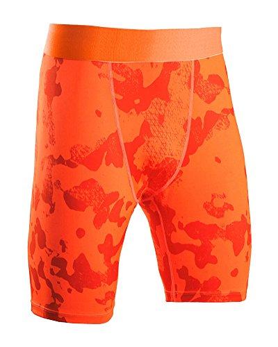 SaiDeng Hombres Deportivos Apretado Pantalones Cortos Compresión Seca