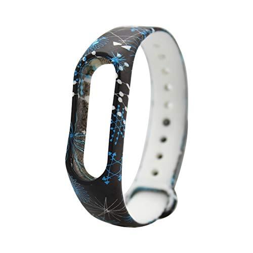 Shuda Xiaomi Mi Band 2 Ersatz-Silikon-Armbanduhr, bunt, wasserdicht, Fitness-Armband, Zubehör für Xiaomi Mi Band 2, Color - 18
