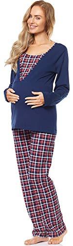 Be mammy pigiama premaman con funzione allattamento gr2t2 (blu scuro, l)