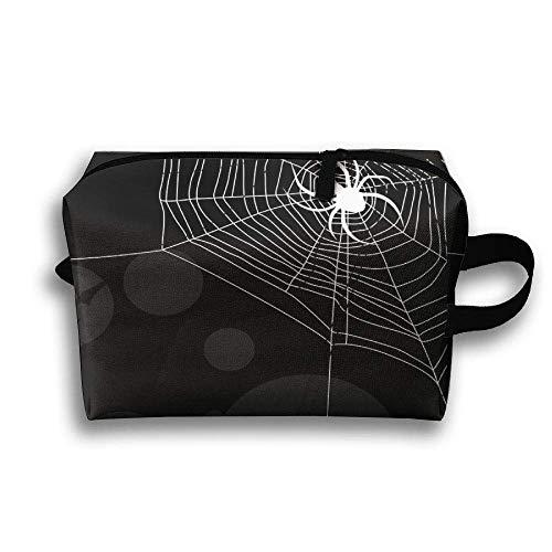 Cobweb Spider Travel Cosmetic Bag Make-Up Bags Stationery Holder