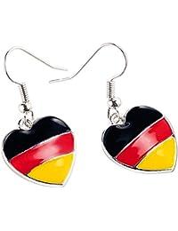 """St. Leonhard Herzförmige Ohrringe """"Deutschland"""""""