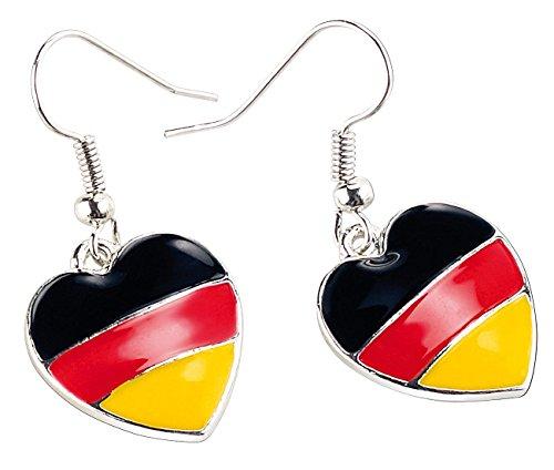 St. Leonhard Fussballohrstecker: Herzförmige Ohrringe Deutschland (Ohrhänger-Deutschland)