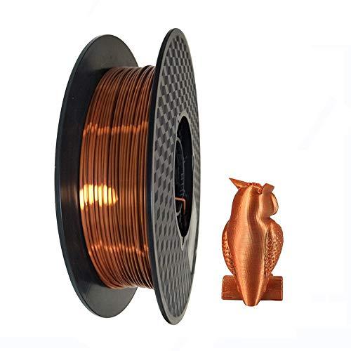 3D-Drucker-Filament PLA 1.75 mm seidiges Kupfer - Silk Copper - 0.5 kg (1,1 lbs) Spule 3D PLA-Druckmaterial Seidenglänzendes PLA (Silk Copper)