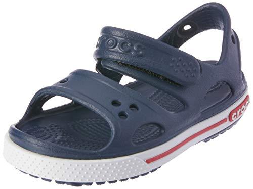 crocs Jungen Sandale Marine/Blanc Garçons Zehentrenner, Blau (Navy), 28/29 EU Navy Peep Toe Schuhe