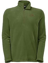 The North Face Men's TKA 100 Glacier 1/4 Zip Fleece Scallion Green-Medium-Green
