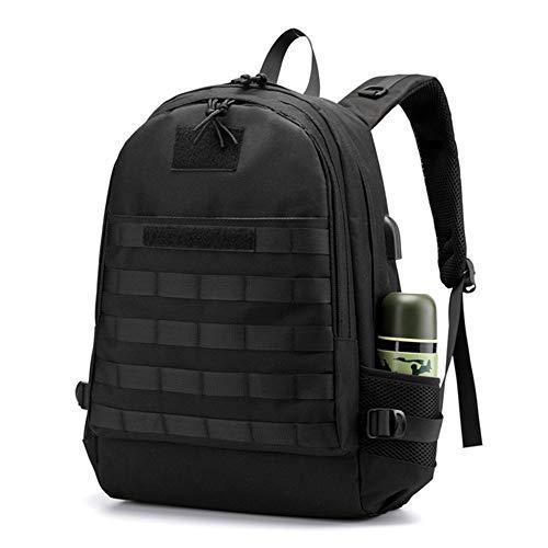 DREI-Schicht-Rucksack Rucksack Tarnung Reißverschluss wasserdichter Rucksack geeignet für Outdoor-Reisen schwarz 48 * 31 * 20