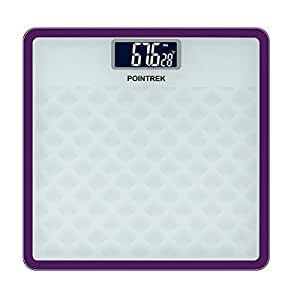 Pointrek Electronic Digital LCD Personal Health Body Fitness Weighing Scale (Square)